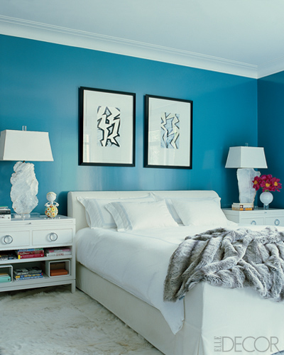 foto friday teal walls the homeslice. Black Bedroom Furniture Sets. Home Design Ideas