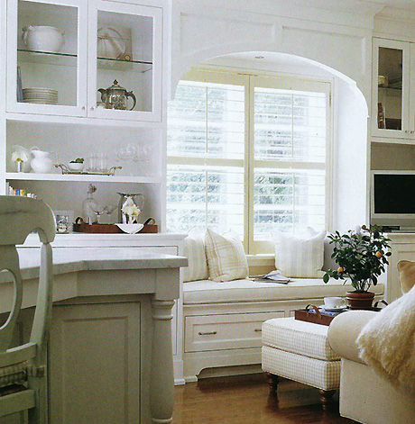 foto friday built in benches the homeslice. Black Bedroom Furniture Sets. Home Design Ideas